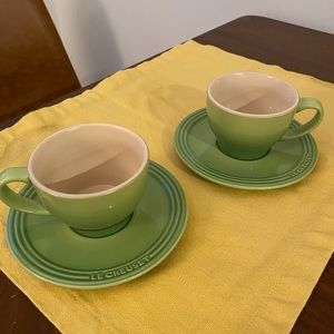 Le creuset cappuccino cups set of 2 (palm green)